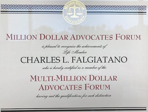 Million Dollar Advocates Forum Charlie Falgiatano